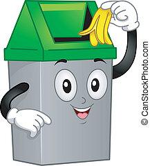 Trashcan Mascot - Mascot Illustration Featuring a Trash Can...
