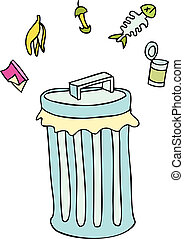 trashcan - trashcan image isolated on a white background.