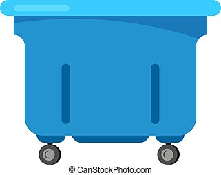 Trashcan vector bin recycle electronic waste garbage illustration. rubbish container electronic household rubbish ewaste recycling. Conservation box dirty city dustbin