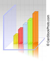 trasparente, 3d, grafico