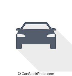 trasporto, appartamento, trasporto, vettore, automobile, segno, disegno, illustrazione, concetto, icona, auto