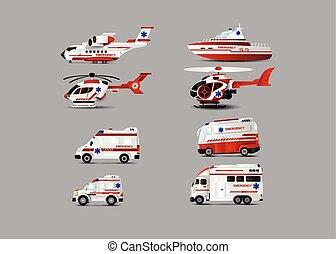 trasporto, di, ambulanza