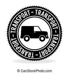 trasporto, disegno, sopra, sfondo bianco, vettore, illustrazione