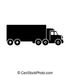 trasporto, disegno, veicolo