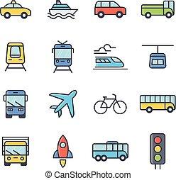 trasporto, e, veicoli