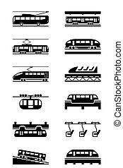 trasporto, elettrico, pubblico