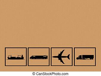 trasporto, fondo