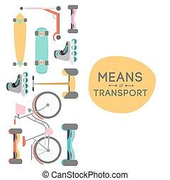 trasporto, fondo, illustrazione, mezzi