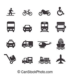 trasporto, icona