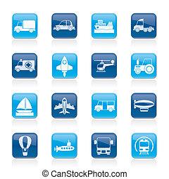 trasporto, icone