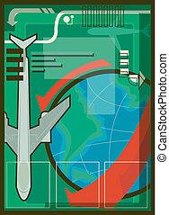 trasporto, illustrazione