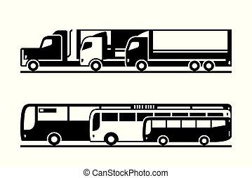 trasporto, passeggero, strada, nolo