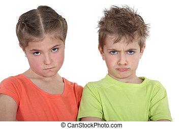 trastorno, hermano y hermana
