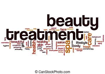 tratamiento de belleza, palabra, nube