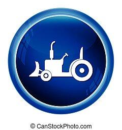 trator, ícone, agricultura, trator, ícone