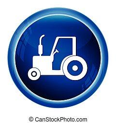 trator, ícone, agricultura, trator, ícone, vetorial, ilustração