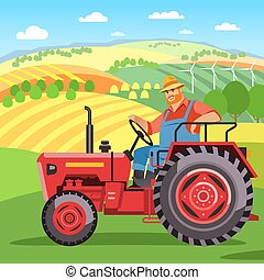 trator, agricultor