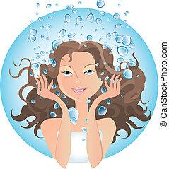 trattamento bellezza, acqua