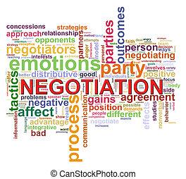 trattativa, parola, etichette