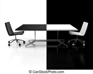 trattative, negoziati, confronto, 3d