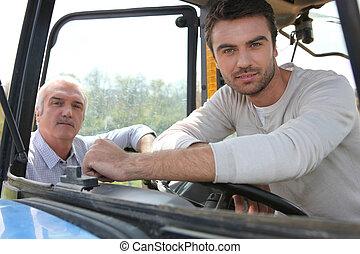trattore, seduta