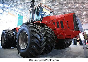 trattore, su, mostra