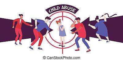 trauma, abuso, niño, composición