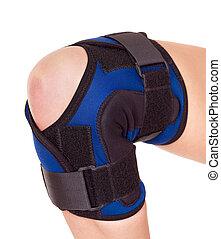 Trauma of knee in brace. Isolated.