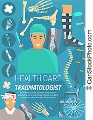 Traumatologist doctor, bones and joints - Traumatologist ...