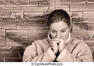 traurige , woman2