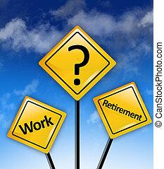 travail, économies, retraite, dilemme