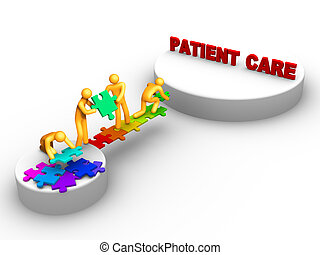 travail équipe, soin patient