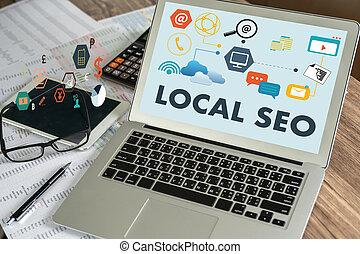 travail, analyse, homme affaires, seo, local, procédés