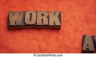 travail, animation, arrêter mouvement, maison, -