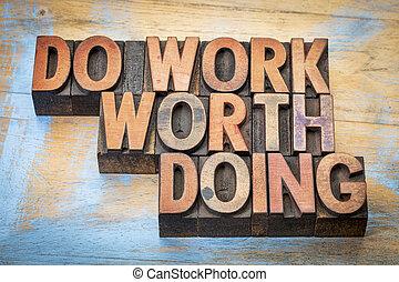 travail bois, type, valeur