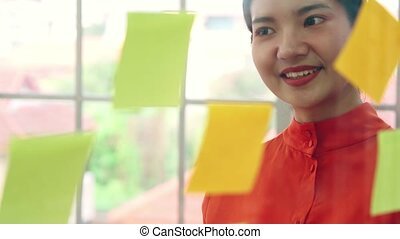 travail, business, planification, planche, gens, projet