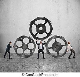 travail, collaboration, ensemble