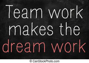 travail, concept, équipe