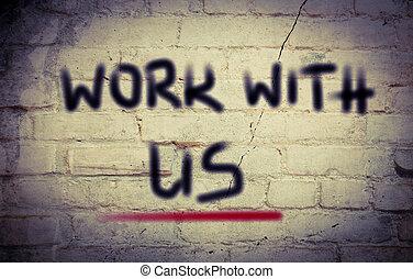 travail, concept, nous