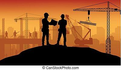 travail construction, ouvrier