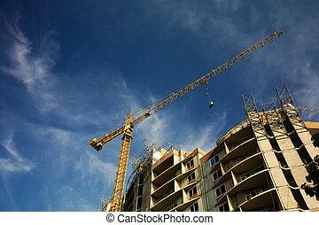 travail construction, site