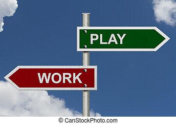 travail, contre, jeu