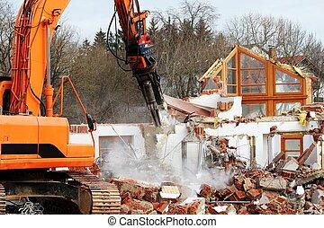 travail, démolition