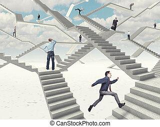 travail, escalier
