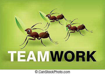 travail, esprit, équipe