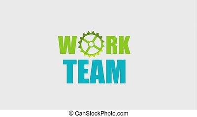 travail, gens, animation, hd, équipe