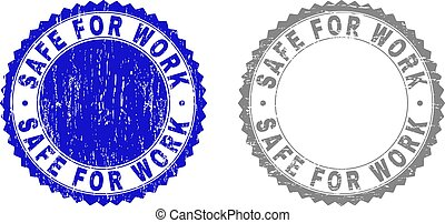 travail, grunge, timbre, sûr, cachets, textured