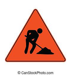 travail, hommes, signe