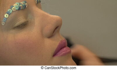 travail, maquillage