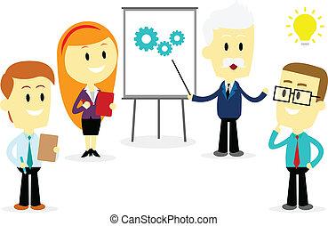 travail, nouvelles idées, discuter